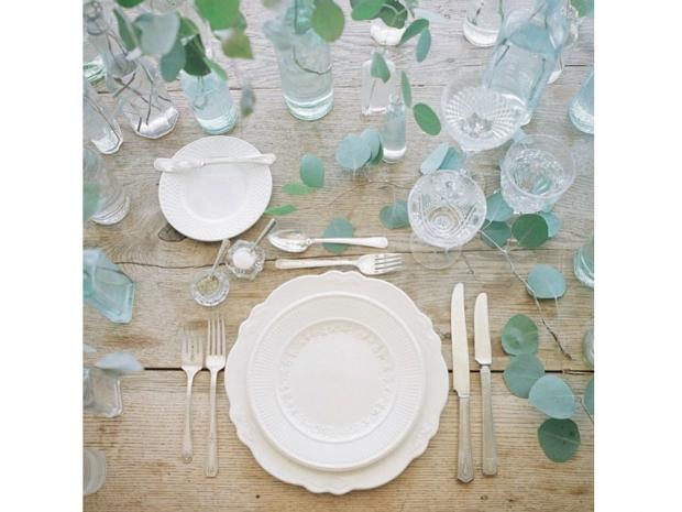 Lauren Conrad's wedding table setting.