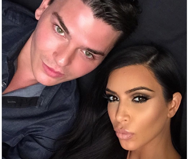 Kim Kardashian and her go-to make-up artist Mario Dedivanovic