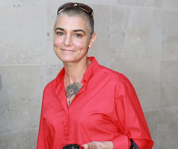 sinead o'connor in a red shirt