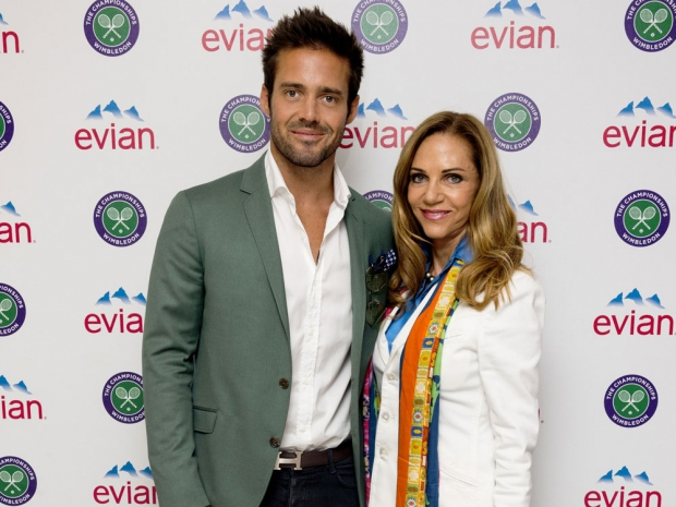 Spencer Matthews and his mum Jane at Wimbledon