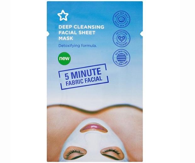 superdrug deep cleansing sheet mask