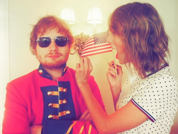 Taylor Swift and Ed Sheeran party on 4 July in Instagram photo