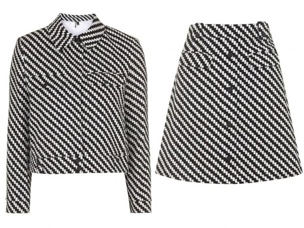 Topshop Jacket, £58 & Skirt £45