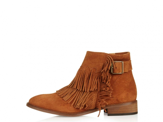 Topshop ARID Fringed Ankle Boots, £78