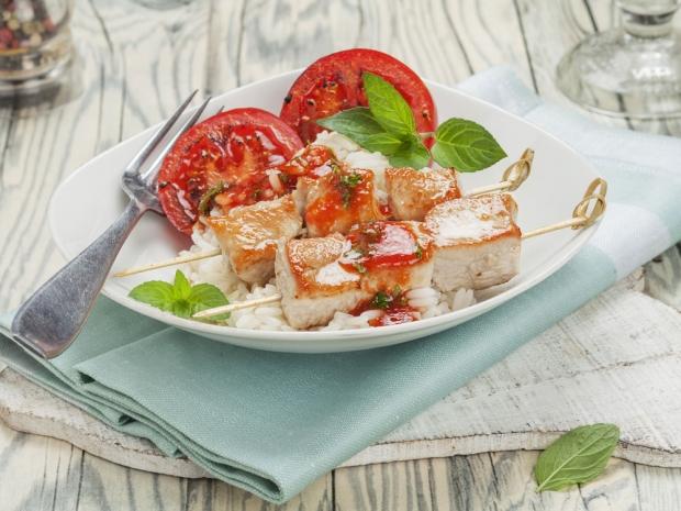 Turkey skewers, healthy snacks