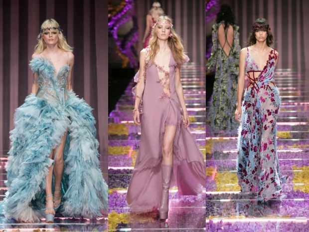 Atelier Versace's show featured showstopping gowns and romantic floral details