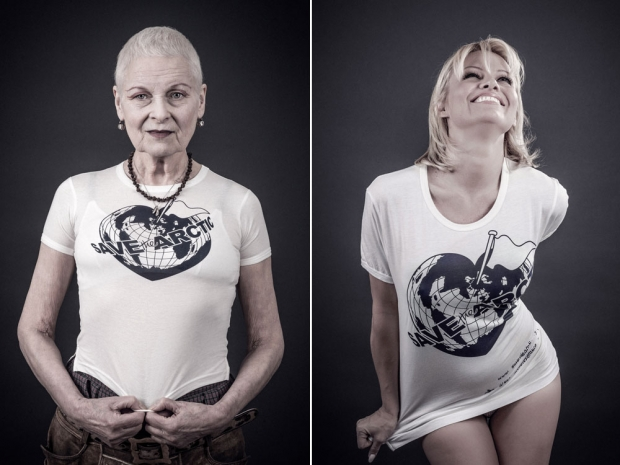 Vivienne Westwood and Pamela Anderson star in the Save The Arctic campaign.