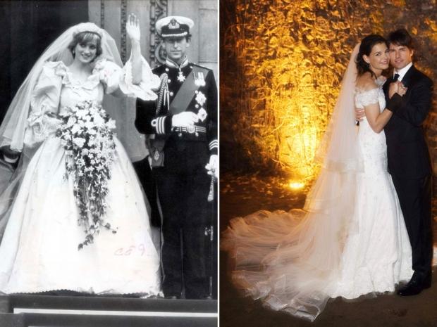 Princess Diana and Katie Holmes
