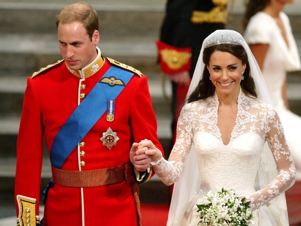 Kate Middleton marrying Prince William.