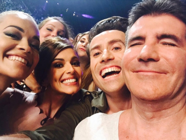 The X Factor judges take a selfie