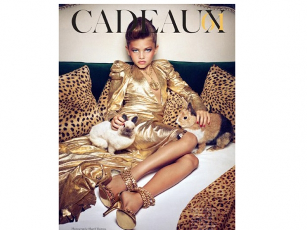 Thylane Blondeau in French Vogue, aged 10