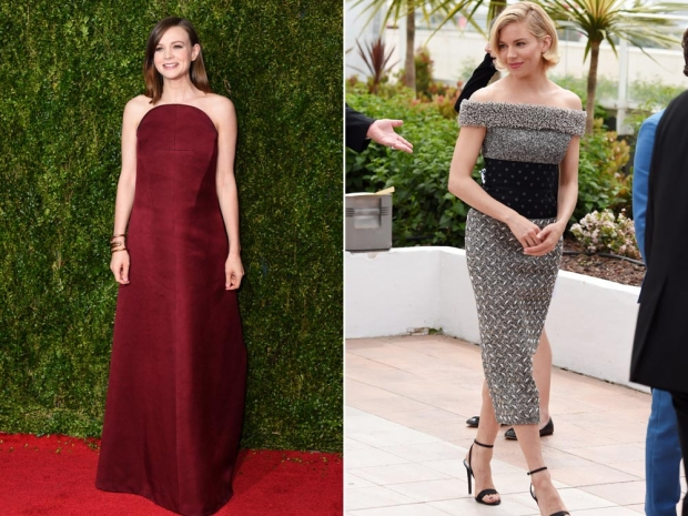 Carey Mulligan (L) and Sienna Miller (R) both wearing Balenciaga