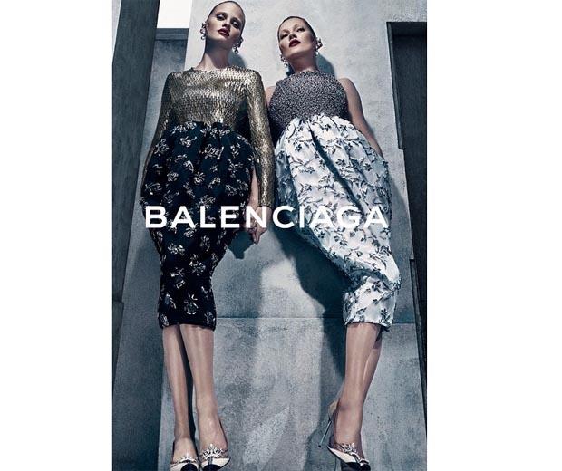 Kate Moss and Lara Stone in Balenciaga's AW15 campaign