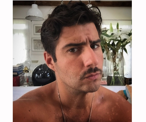 alik alfus made in chelsea shows off his moustache