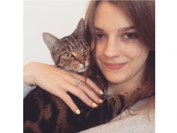 Amber Anderson with her cat