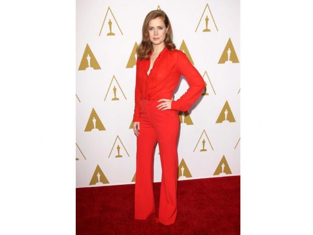 Amy Adams wears Elie Saab at the 2014 Oscar lunch