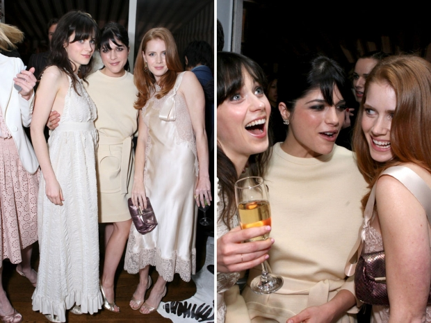 Amy Adams with Selma Blair and Zooey Deschanel