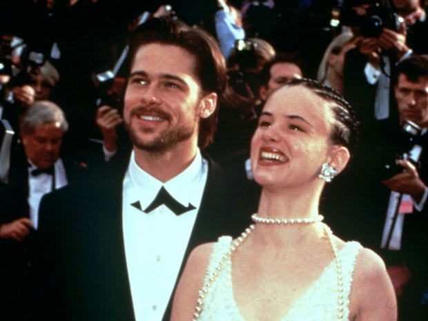 Brad Pitt with Juliette Lewis back in the 1990s.