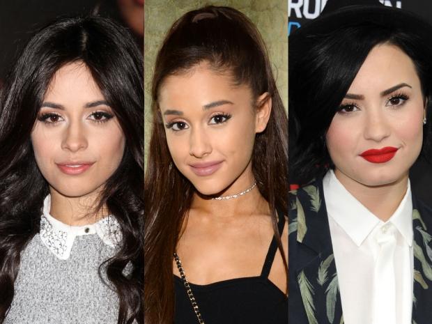 Camila Cabello, Ariana Grande and Demi Lovato