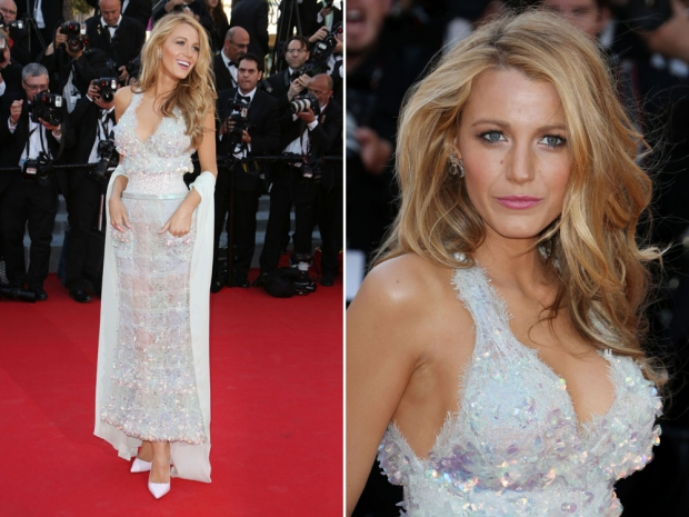 Blake Lively in her Chanel gown.