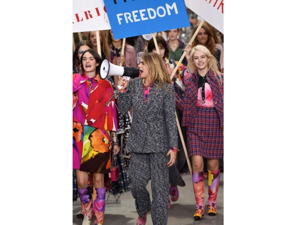 Cara Delevingne Leading The Feminist Charge At Chanel