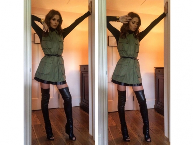 Cheryl Fernandez-Versini on The X Factor set