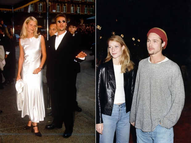 Gwyneth Paltrow with Brad Pitt