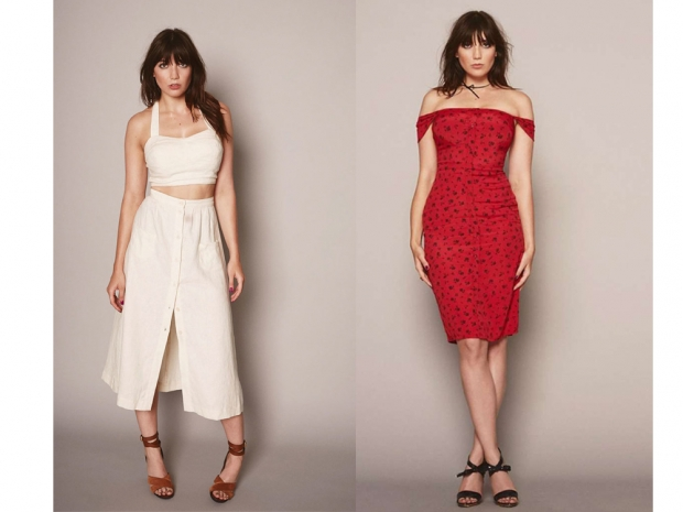 Daisy Lowe models for Reformation