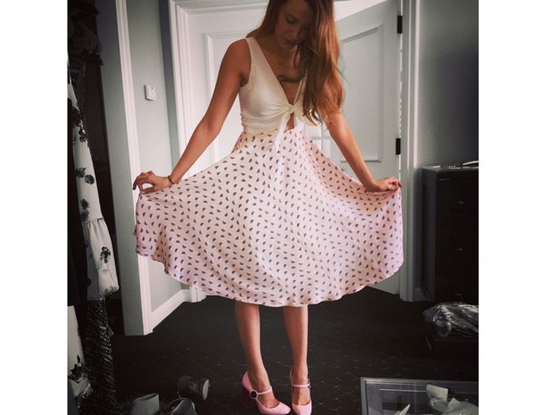 Blake Lively's first dress.