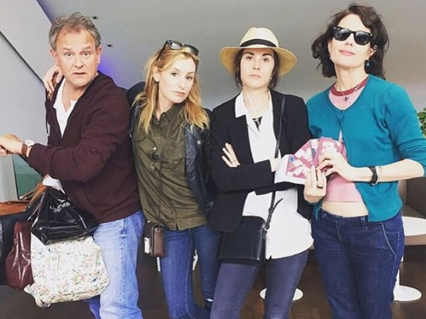 Hugh Bonneville, Laura Carmichael, Michelle Dockery and Elizabeth McGovern