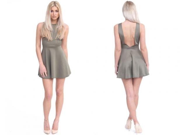 Forever Modo Sadie V Back Dress, 17.99