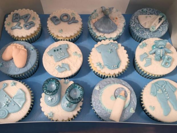 Frankie Bridge's cupcakes at her baby shower