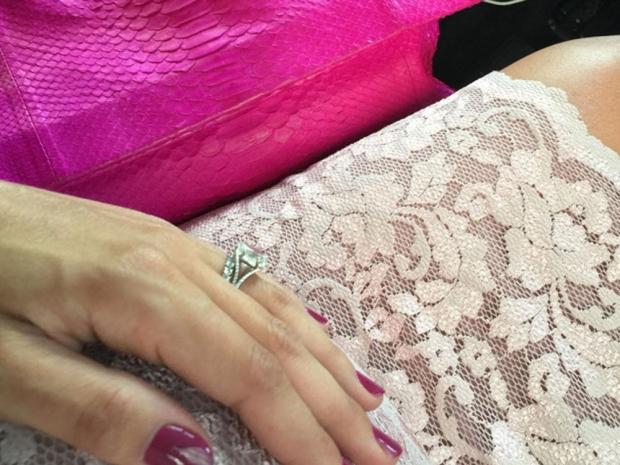 Frankie Bridge's pink outfit on Instagram