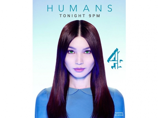 Gemma Chan in the advert for Humans.