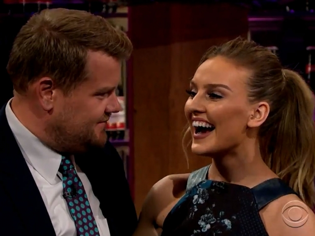James Corden and Perrie Edwards on the Late Late Show