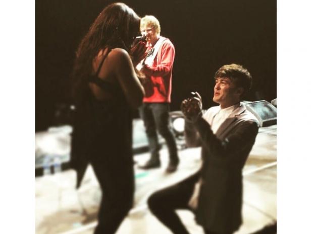 Jake Roche proposing to Jesy Nelson