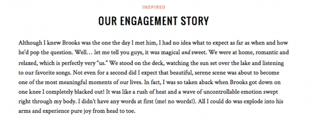 Julianne Hough's blog post