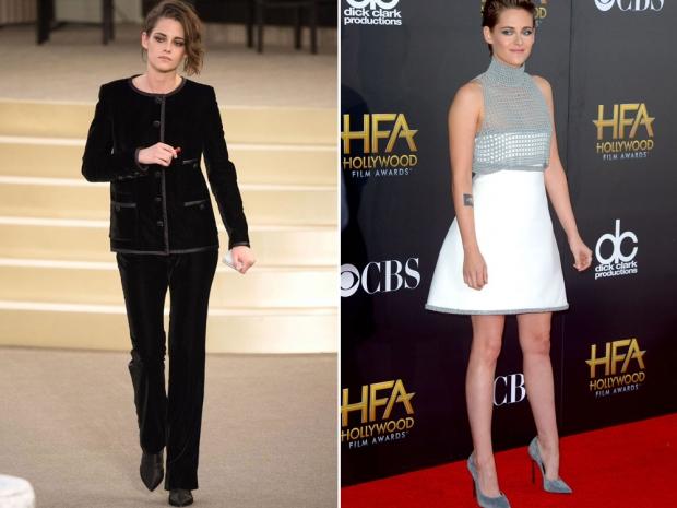 Kristen Stewart wearing Chanel.