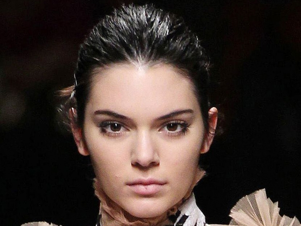 Kendall Jenner's face with make-up on