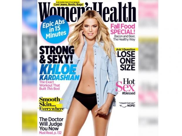 Khloe Kardashian on the cover of Women's Health