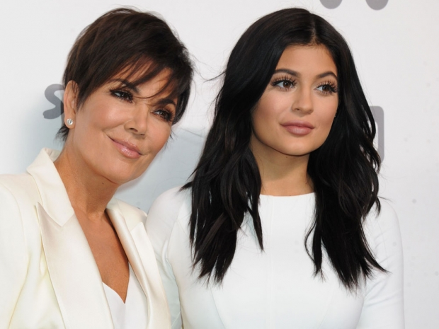 Kris Jenner with daughter Kylie Jenner