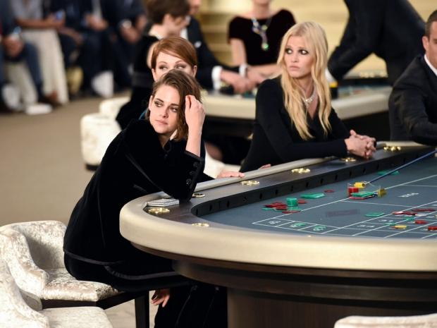Kristen Stewart in the Chanel autumn/winter couture 2015 show.