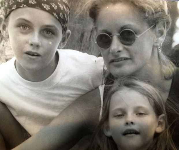 Jules Stewart with Kristen Stewart and her brother