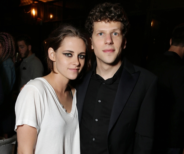 Kristen Stewart with her co-star Jesse Eisenberg at the after-party