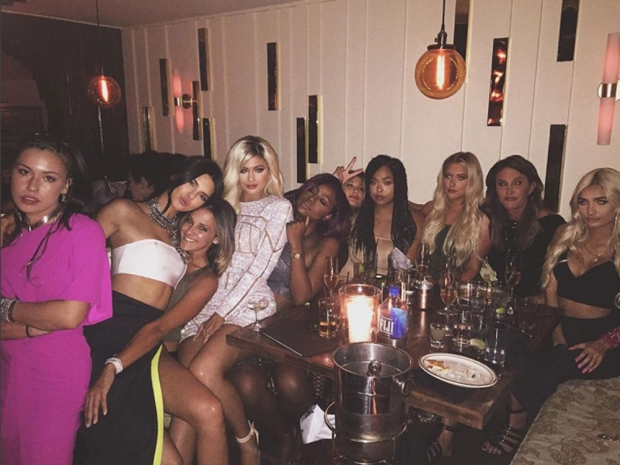 Kylie Jenner at her 18th birthday party