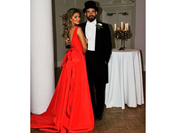 Spencer Matthews and Lauren Hutton celebrating Made In Chelsea's 100th episode