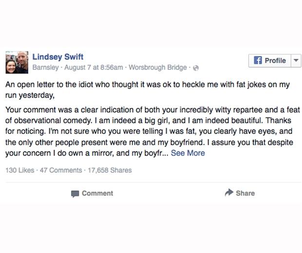 Facebook: Lindsey Swift