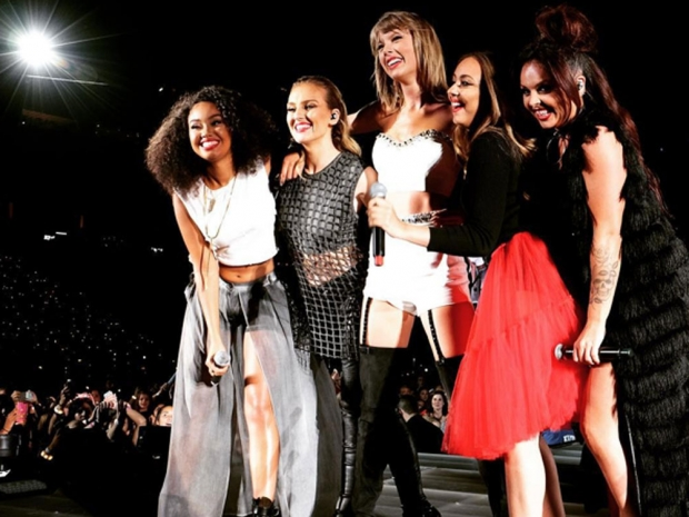 Little Mix performing with Taylor Swift