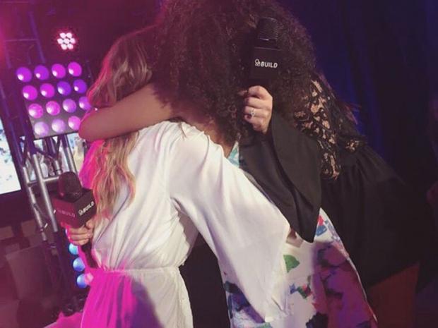 Little Mix hugging