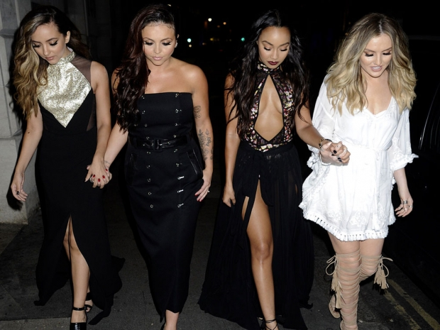 Little Mix wearing monochrome outfits in London